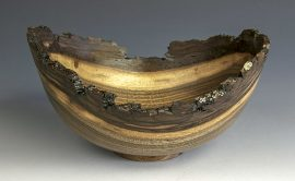 Jerry Kermode - Walnut Natural Edge Bowl with Bark Rim