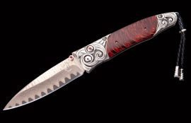 William Henry Limited Edition B30 Red Wave Knife