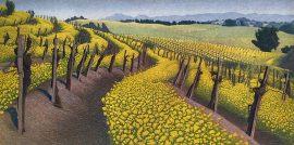 Stephen McMillian Print - Mustard Flowers