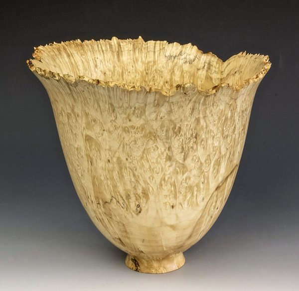 Jerry Kermode Wooden Bowl - Box Elder Natural Edge Bowl