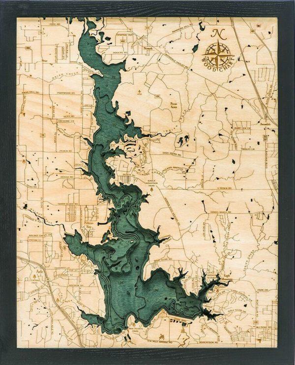 Bathymetric Map Eagle Mountain Lake, Texas
