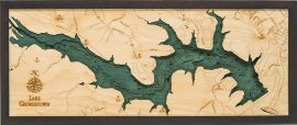 Bathymetric Map Lake Georgetown, Texas