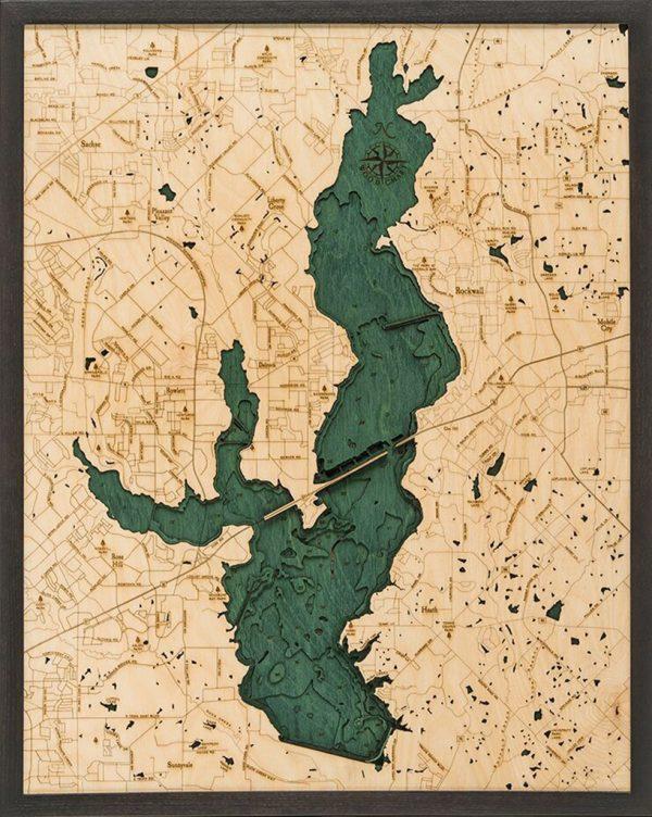 Bathymetric Map Lake Ray Hubbard, Texas