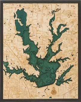Bathymetric Map Lewisville Lake, Texas