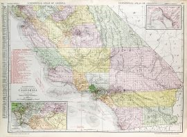 California State Railroad Map (c. 1917)