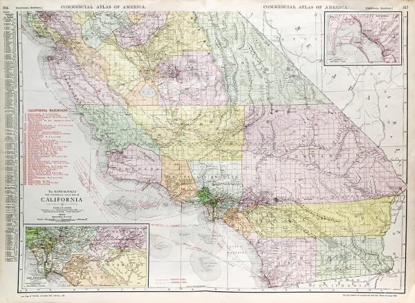 California State Railroad Map (c. 1917)
