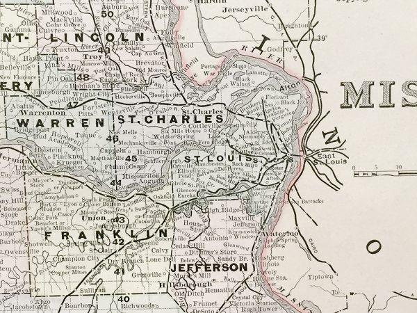 Antique Map - Missouri State Map (1886)