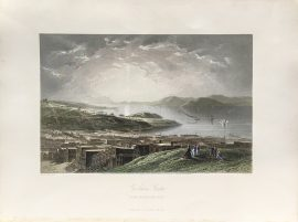 Antique Engraving - Golden Gate from Telegraph Hill (1873)
