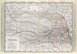 Nebraska State Railroad Map (1897)