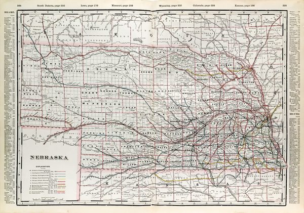 Nebraska State Railroad Map (1897)