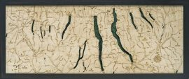 Bathymetric Map Finger Lakes, New York