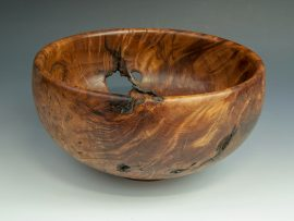 Jerry Kermode - Redwood Burl Traditional Edge Bowl with Bark Inclusions