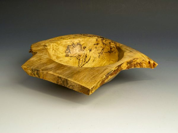 Jerry Kermode - Silver Maple Square-Cut Natural Edge Bowl
