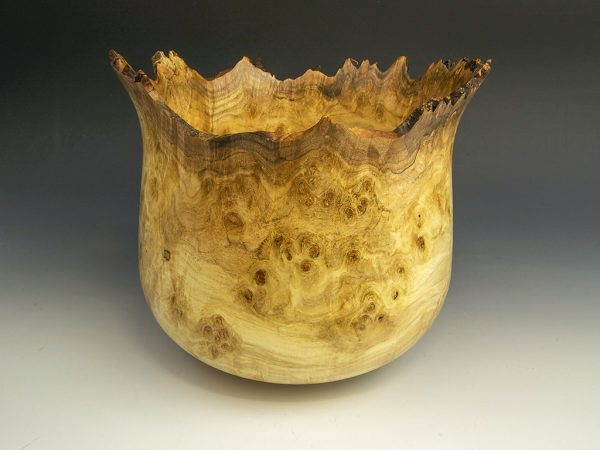 Jerry Kermode - Silver Maple Natural Edge Calabash Bowl