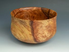 Jerry Kermode - Redwood Traditional Edge Calabash Bowl with 3 Stitches