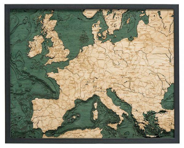 Bathymetric Map Western Europe