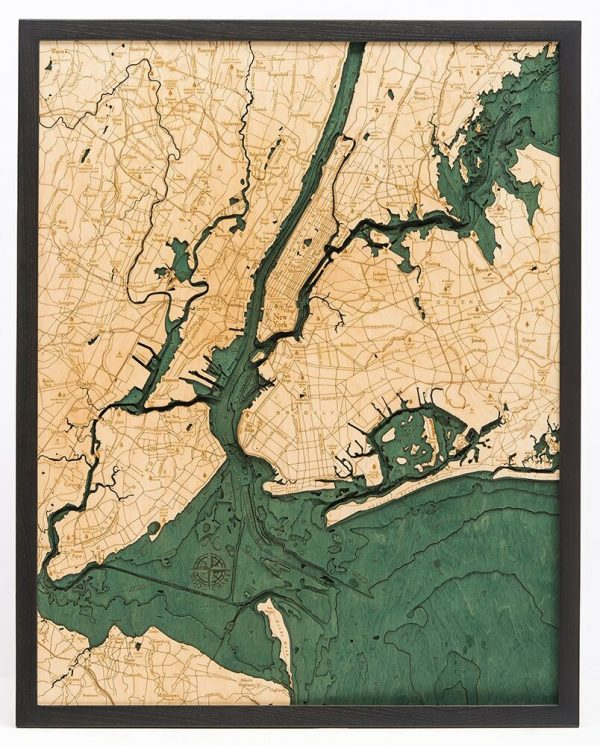 Bathymetric Map 5 Boroughs, New York