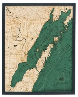 Bathymetric Map Door County, Wisconsin