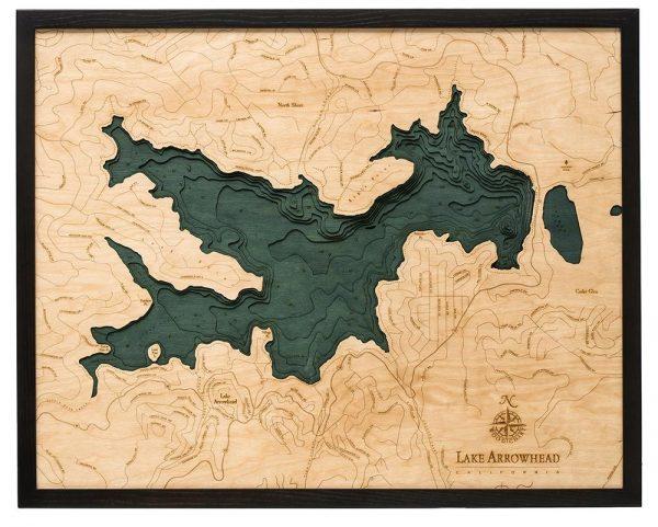 Bathymetric Map Lake Arrowhead, California