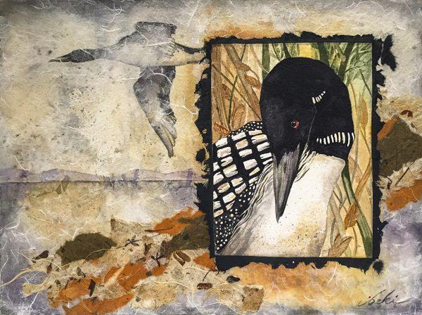 Beki Killorin Original Watercolor - Loon Flight