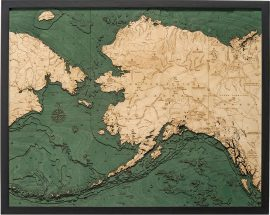Bathymetric Map of Alaska