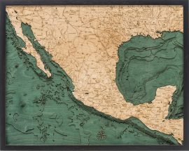 Bathymetric Map of Mexico