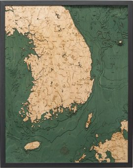 Bathymetric Map of South Korea