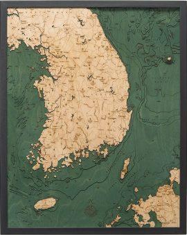 Bathymetric Map of South Korea