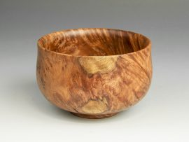 Jerry Kermode - Redwood Traditional Edge Calabash Bowl