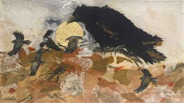 Beki Killorin Original Watercolor - Raven Rhapsody