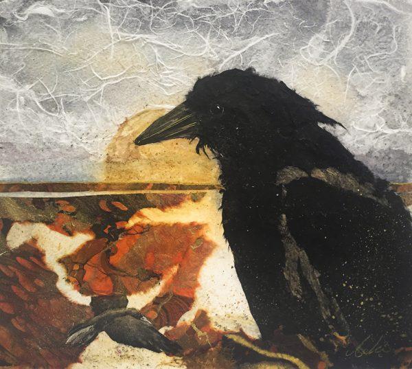 Beki Killorin Original Watercolor - Trickster Raven