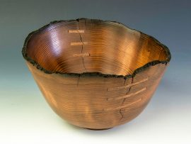 Jerry Kermode - Redwood Natural Edge Bowl with 6 Stitches