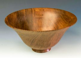 Jerry Kermode - Redwood Traditional Edge Bowl with 2 Stitches