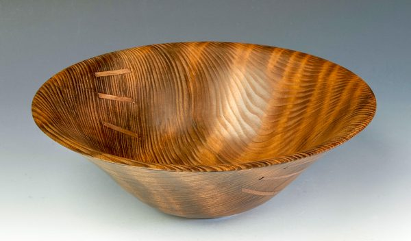 Jerry Kermode - Redwood Traditional Edge Bowl with 6 Stitches
