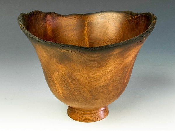 Jerry Kermode - Redwood Natural Edge Bowl with Burnt Rim