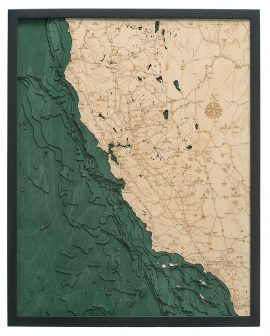 Bathymetric Map California Coast