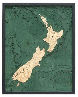 Bathymetric Map New Zealand