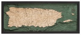 Bathymetric Map Puerto Rico