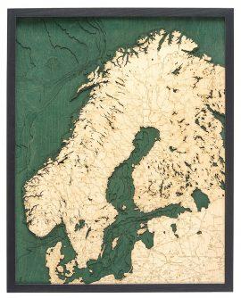 Bathymetric Map Scandinavia