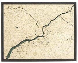 Bathymetric Map Philadelphia, Pennsylvania