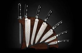 William Henry Kultro Pro Lighting Kitchen Knives - Black Walnut