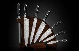 William Henry Kultro Pro Tribal Kitchen Knives - Black Walnut