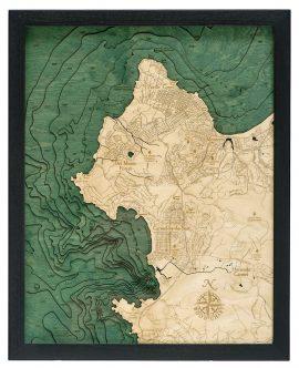 Bathymetric Map Carmel and Monterey, California