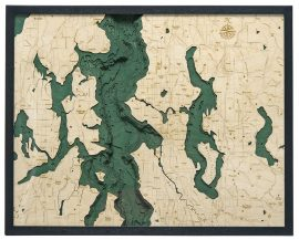 Bathymetric Map Seattle, Washington