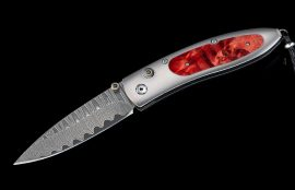 William Henry Limited Edition B05 Red Burl Knife