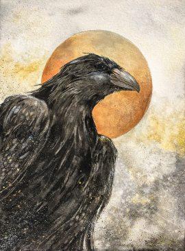 Beki Original Watercolor - Avenger Raven Original