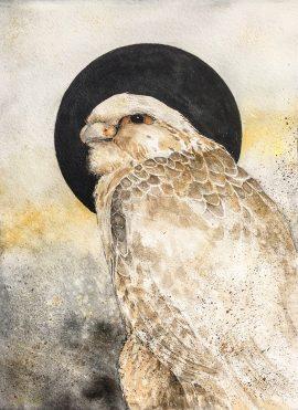 Beki Original Watercolor - Hunter Falcon Original
