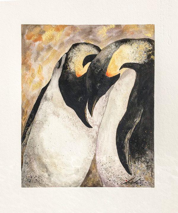 """Beki Original Watercolor - """"Loving Pair Original"""""""
