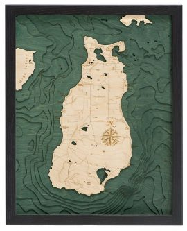 Bathymetric Map Beaver Island, Michigan