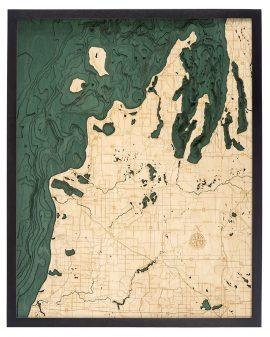Bathymetric Map Michigan Route M22, Michigan